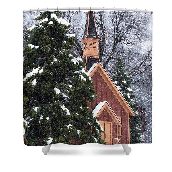 Yosemite Valley Chapel  Shower Curtain