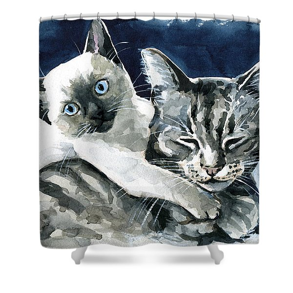 You Are Mine - Cat Painting Shower Curtain
