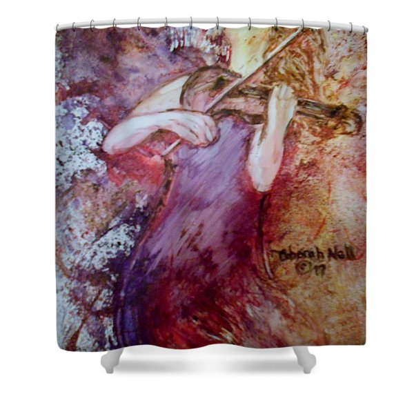 Shower Curtain featuring the painting You Are My Hallelujah by Deborah Nell