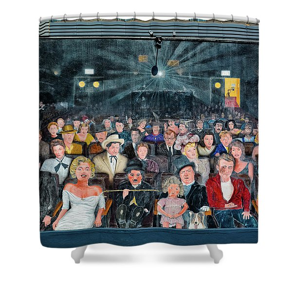 You Are The Star Mural Hollywood Shower Curtain