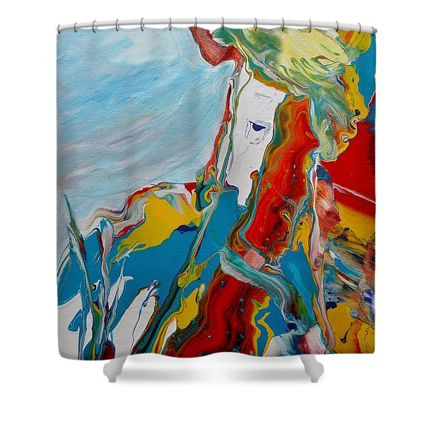 Shower Curtain featuring the painting You Bring The Color by Deborah Nell