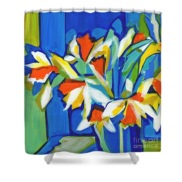 You Can Never Hold Back Spring Shower Curtain