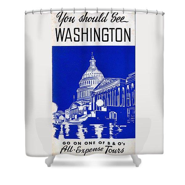 You Should See Washington Shower Curtain