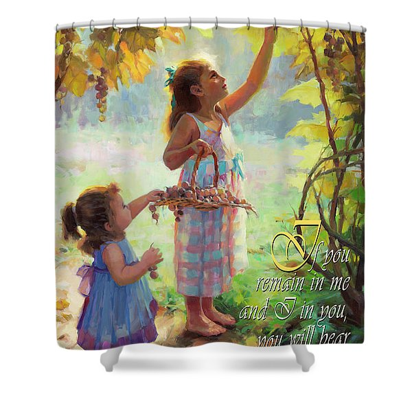 You Will Bear Much Fruit Shower Curtain
