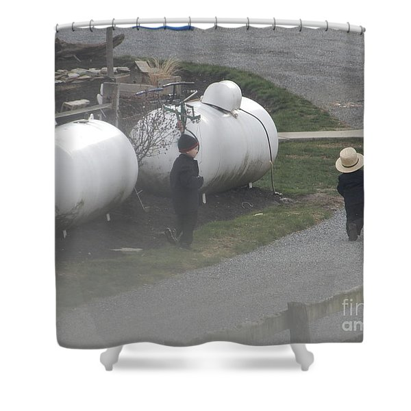 Young Business Men Shower Curtain