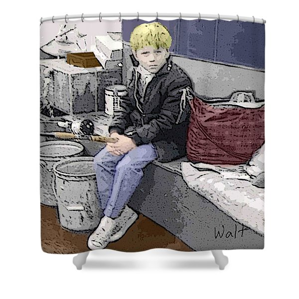 Young Fisherman Shower Curtain