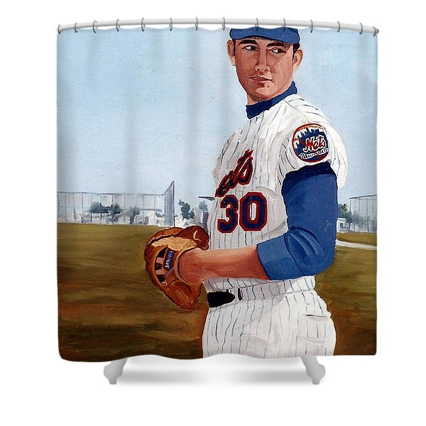 Young Nolan Ryan - With Mets Shower Curtain