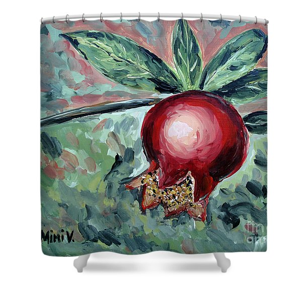 Young Pomegranate Shower Curtain