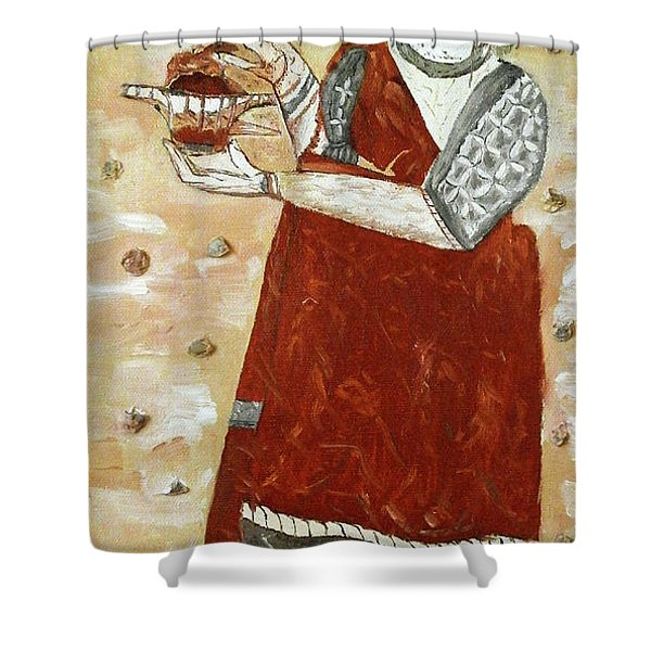 Young Priestess Shower Curtain