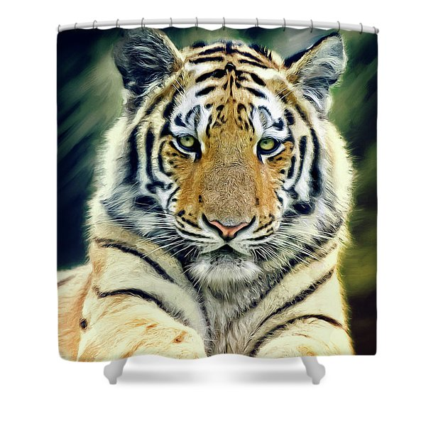 Young Tiger Shower Curtain