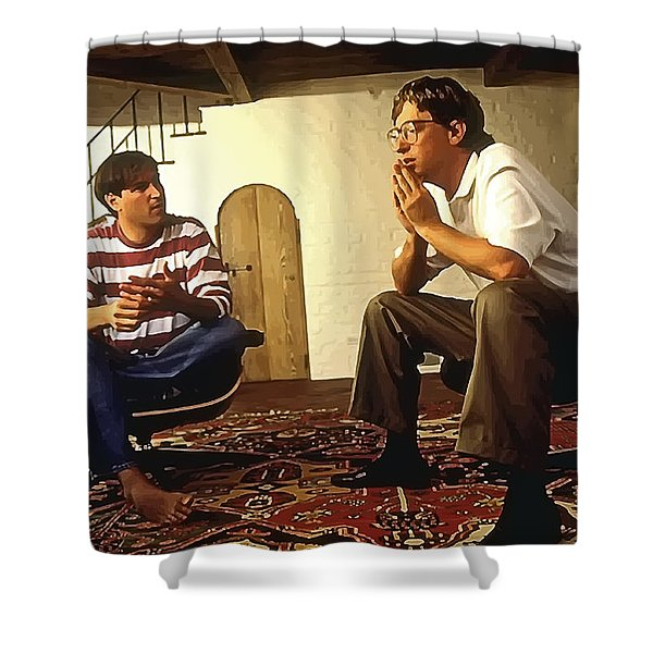 Steve And Bill - Young Visionaries Shower Curtain