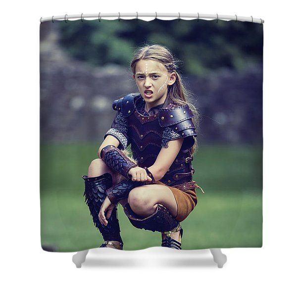 Young Warrior Shower Curtain