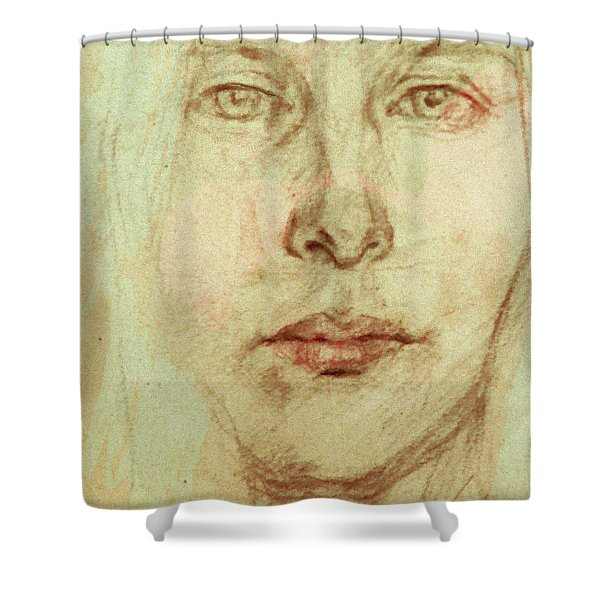 Young Woman Shower Curtain