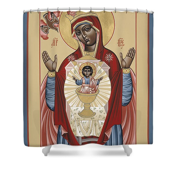 The Black Madonna Your Lap Has Become The Holy Table 060 Shower Curtain