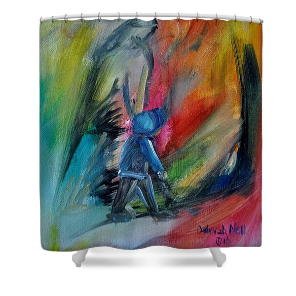Shower Curtain featuring the painting You're Always With Me by Deborah Nell