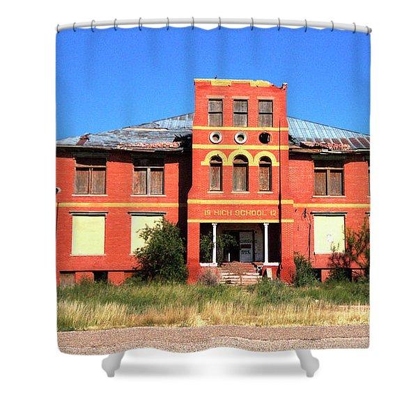 Yoyah School House Shower Curtain