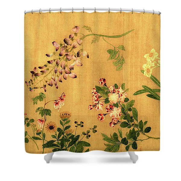 Yuan's Hundred Flowers Shower Curtain