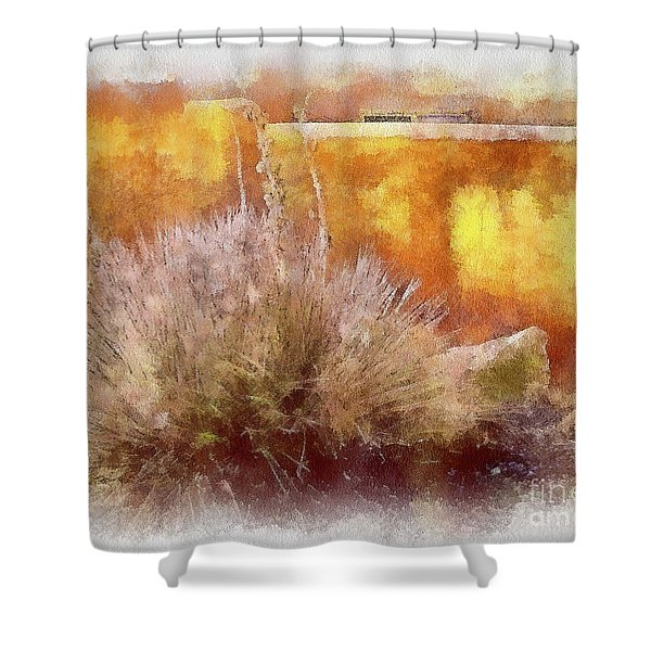 Yucca And Adobe In Aquarelle Shower Curtain