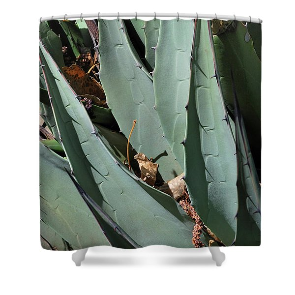 Yucca Leaves Shower Curtain