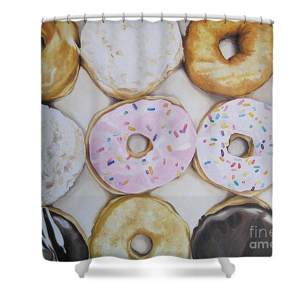 Yummy Donuts Shower Curtain