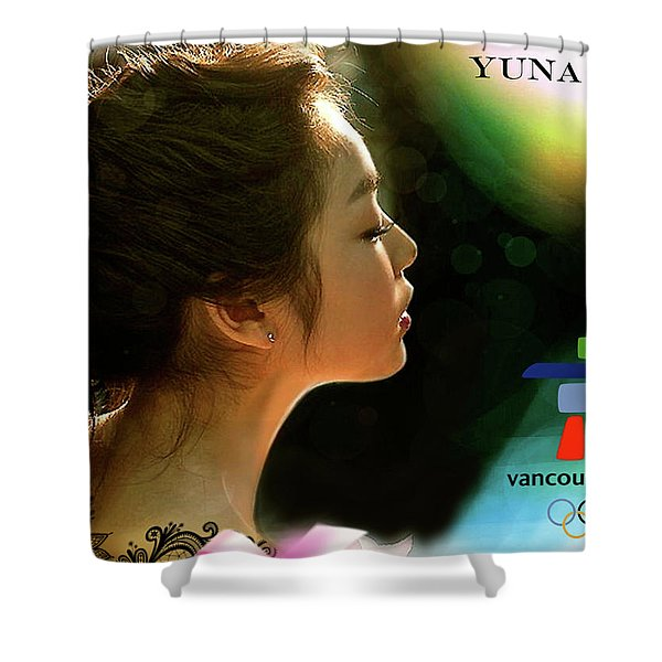 Yuna Kim, Vancouver Olympics, Gold Medalist, Ladies Singles, Figure Skating Shower Curtain