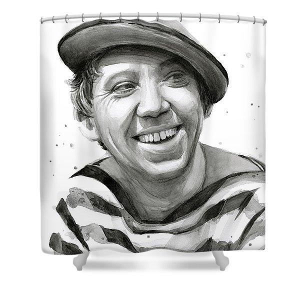 Yuriy Nikulin Portrait Shower Curtain