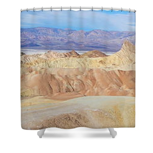 Zabriski Point Panoramic Shower Curtain