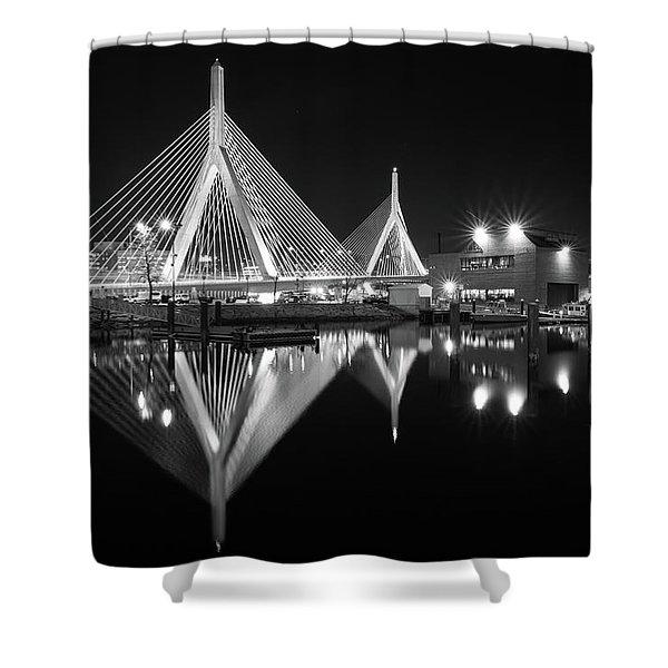 Zakim Bridge From Lovejoy Wharf Shower Curtain