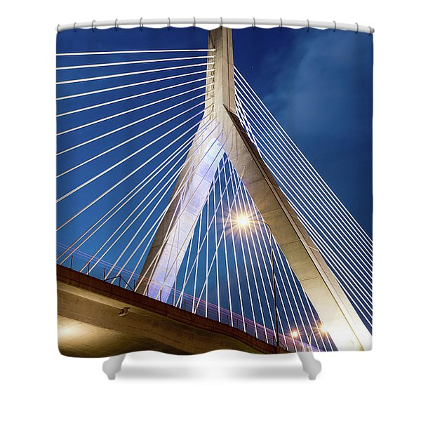 Zakim Bridge Upclose Shower Curtain