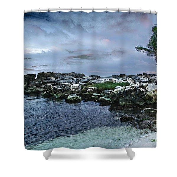 Zamas Beach #8 Shower Curtain