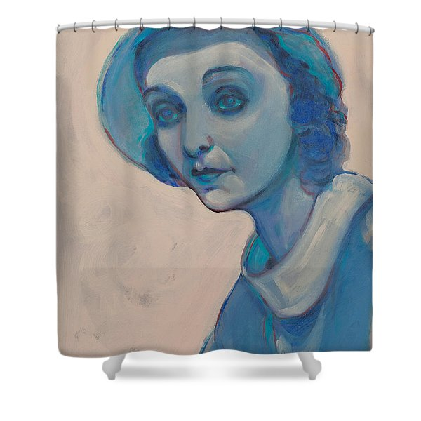 Zasu In Blue Shower Curtain