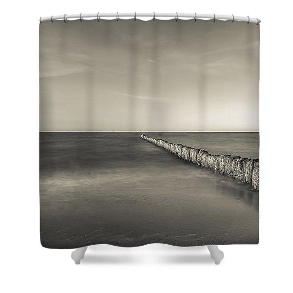 In The Mood Of Zen - Creamy Break In Shower Curtain