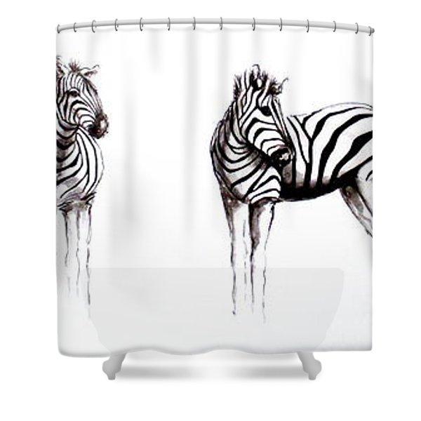 Zebbies Shower Curtain