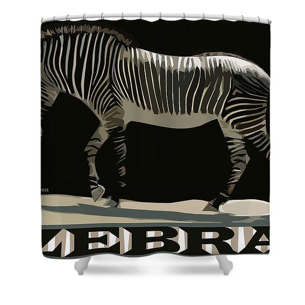 Zebra Design By John Foster Dyess Shower Curtain