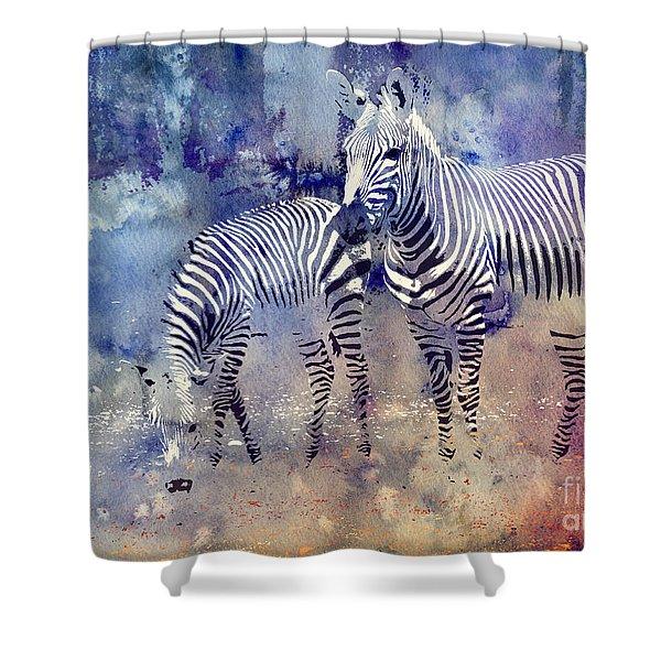 Zebra Paradise Shower Curtain