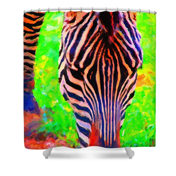 Zebra . Photoart Shower Curtain