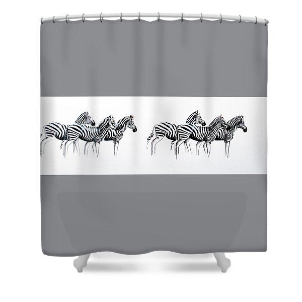Zebrascape - Original Artwork Shower Curtain