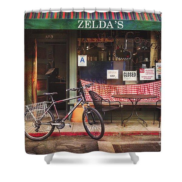 Zelda's Bicycle Shower Curtain