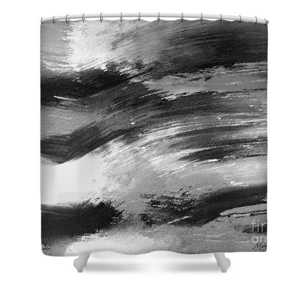 Zen Abstract A715d Shower Curtain