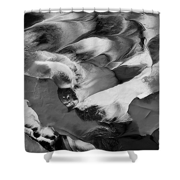 Zen Abstract Series N1015al Shower Curtain
