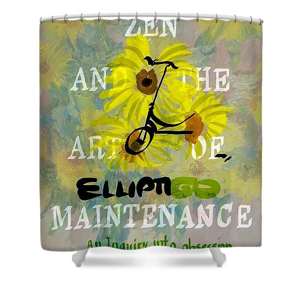 Zen And The Art Of Elliptigo Maintainence, A Parody Shower Curtain