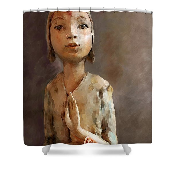 Zen Be With You Shower Curtain