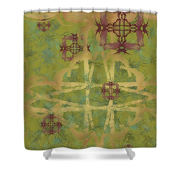 Zen Fly Colony Shower Curtain