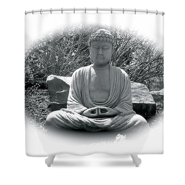 Shower Curtain featuring the painting Zen by Michael Lucarelli
