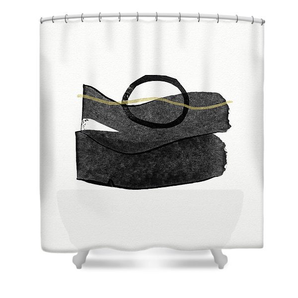 Zen Modern Abstract 3- Art By Linda Woods Shower Curtain