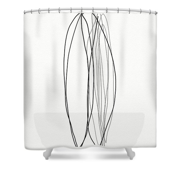 Zen Modern Abstract 4- Art By Linda Woods Shower Curtain