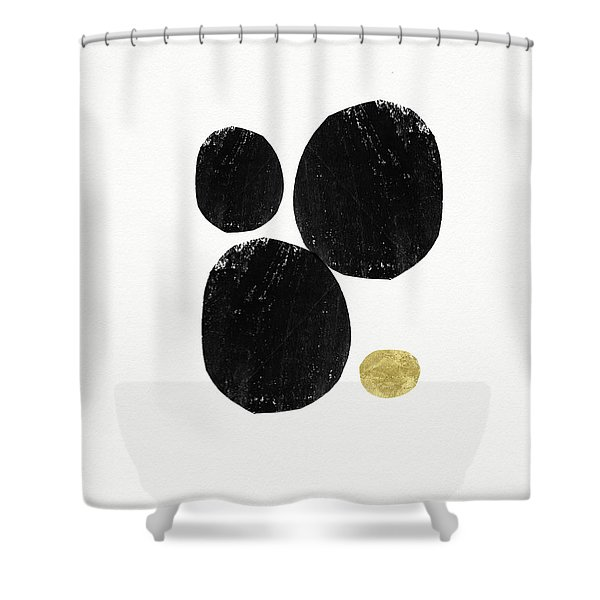 Zen Modern Art 5- Art By Linda Woods Shower Curtain