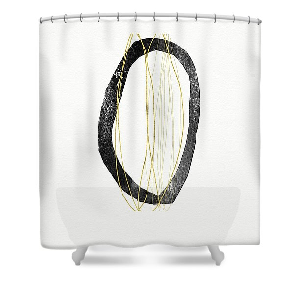 Zen Modern Art 6- Art By Linda Woods Shower Curtain