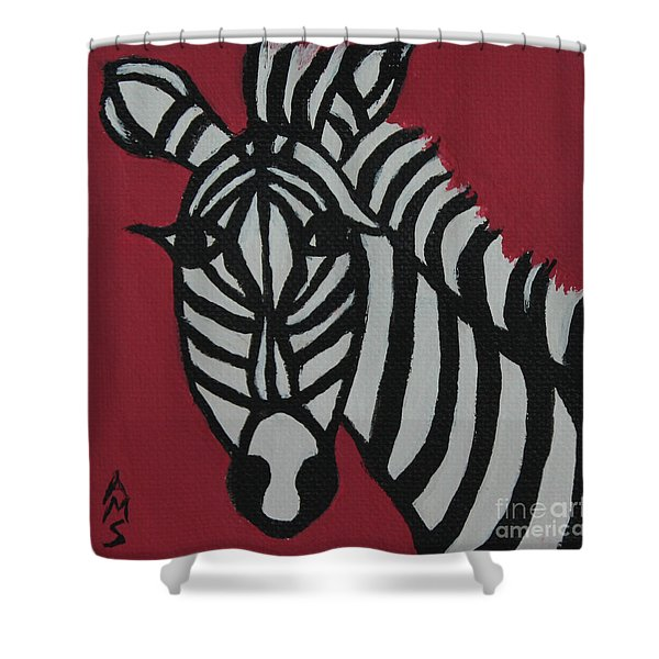 Zena Zebra Shower Curtain