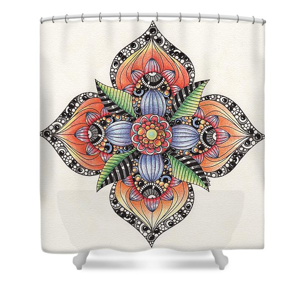 Zendala Template #1 Shower Curtain